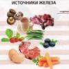 В каких продуктах содержится много цинка и железа?